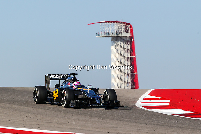 JENSON BUTTON (22) driver of the McLaren Mercedes car in action  during the last practice before the Formula 1 United States Grand Prix race at the Circuit of the Americas race track in Austin,Texas.