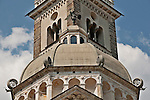 Basilica della Madonna di Tirano church dome, the church is dedicated to the appearance of the Virgn to Mario Degli Omodei in 1504 in Tirano, Italy