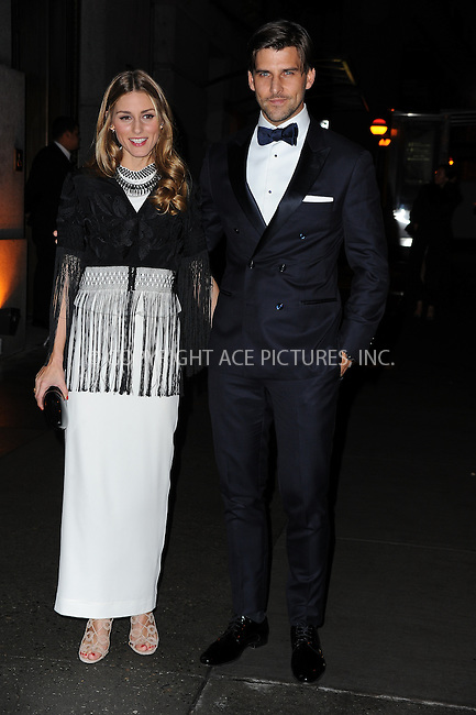 ACEPIXS.COM<br /> <br /> October 23 2014, New York City<br /> <br /> Olivia Palermo (L) and Johannes Huebl  arriving at Fashion Group International's 31st Annual Night of Stars: The Protagonists at Cipriani Wall Street on October 23, 2014 in New York City.<br /> <br /> By Line: William Bernard/ACE Pictures<br /> <br /> ACE Pictures, Inc.<br /> www.acepixs.com<br /> Email: info@acepixs.com<br /> Tel: 646 769 0430