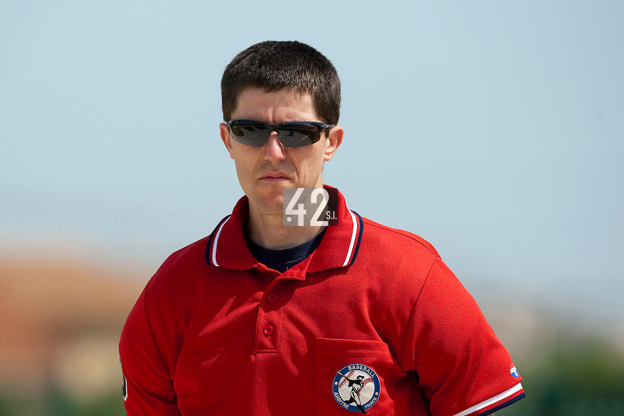 22 May 2009: Unidentified umpire is seen during the 2009 challenge de France, a tournament with the best French baseball teams - all eight elite league clubs - to determine a spot in the European Cup next year, at Montpellier, France. Senart wins 7-1 over Montpellier.
