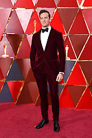 Armie Hammer arrives at the Oscars on Sunday, March 4, 2018, at the Dolby Theatre in Los Angeles. (Photo by Richard Shotwell/Invision/AP)