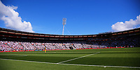 A general view of the 2018 FIFA World Cup Russia first-leg playoff football match between the NZ All Whites and Peru at Westpac Stadium in Wellington, New Zealand on Saturday, 11 November 2017. Photo: Dave Lintott / lintottphoto.co.nz