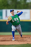 Lexington Legends starting pitcher Foster Griffin (14) in action against the Hickory Crawdads at L.P. Frans Stadium on April 29, 2016 in Hickory, North Carolina.  The Crawdads defeated the Legends 6-2.  (Brian Westerholt/Four Seam Images)