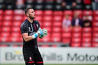 Lincoln City's Grant Smith during the pre-match warm-up<br /> <br /> Photographer Andrew Vaughan/CameraSport<br /> <br /> The Carabao Cup Second Round - Lincoln City v Everton - Wednesday 28th August 2019 - Sincil Bank - Lincoln<br />  <br /> World Copyright © 2019 CameraSport. All rights reserved. 43 Linden Ave. Countesthorpe. Leicester. England. LE8 5PG - Tel: +44 (0) 116 277 4147 - admin@camerasport.com - www.camerasport.com