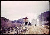 Train at tank.<br /> D&amp;RGW