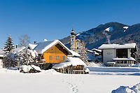 Austria, Tyrol, village Soell with parish church holy Petrus and Paulus