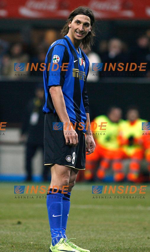 Zlatan Ibrahimovic (Inter)<br /> Milano 15/2/2009 Stadio &quot;Giuseppe Meazza&quot; <br /> Campionato Italiano Serie A 2008/2009<br /> Inter Milan (2-1)<br /> Foto Giuseppe Celeste Insidefoto