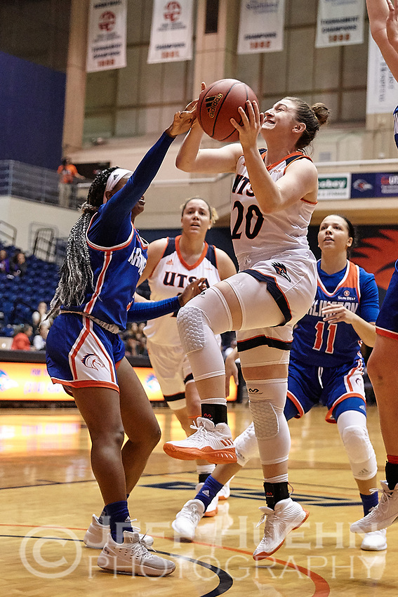 SAN ANTONIO, TX - NOVEMBER 15, 2017: The University of Texas at San Antonio Roadrunners fall to the University of Texas at Arlington Mavericks 69-68 in overtime at the UTSA Convocation Center. (Photo by Jeff Huehn)