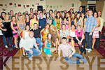 DOUBLE KEY TIME: Twins Ellen & Catherine Delaney, Clogherbrien (seated centre) having a ball with friends and family at their 21st birthday party held in The Kerins O'Rahillys GAA Clubhouse on Saturday night.