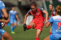 Portland, OR - Saturday September 30, 2017: Ashleigh Sykes scores a goal during a regular season National Women's Soccer League (NWSL) match between the Portland Thorns FC and the Chicago Red Stars at Providence Park.