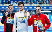 Podium<br /> YANG Sun CHN Gold Medal<br /> GUY James GBR Silver Medal<br /> COCHRANE Ryan CAN Bronze Medal<br /> 400 Freestyle Men Final <br /> Swimming Kazan Arena<br /> Day10 02/08/2015<br /> XVI FINA World Championships Aquatics Swimming<br /> Kazan Tatarstan RUS July 24 - Aug. 9 2015 <br /> Photo A.Masini/Deepbluemedia/Insidefoto