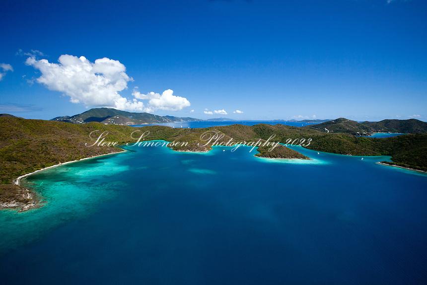 Princess Bay, Otter Creek and Water Creek.Hurricane Hole.St. John.U.S. Virgin Islands