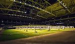 Solna 2014-05-05 Fotboll Allsvenskan AIK - Helsingborgs IF :  <br /> Ljusriggar f&ouml;r konstgjord belysning uppst&auml;llda &ouml;ver gr&auml;smattan i Friends Arena efter matchen<br /> (Foto: Kenta J&ouml;nsson) Nyckelord:  Friends Arena AIK Gnaget HeIF HIF Helsingborg inomhus interi&ouml;r interior ljusrigg ljus gr&auml;s gr&auml;smatta