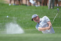 Keegan Bradley (USA) hits from the trap on 8 during 3rd round of the 100th PGA Championship at Bellerive Country Club, St. Louis, Missouri. 8/11/2018.<br /> Picture: Golffile | Ken Murray<br /> <br /> All photo usage must carry mandatory copyright credit (&copy; Golffile | Ken Murray)