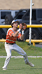 Waterloo's Graham Baker catches a Carbondale fly to the outfield. Waterloo defeated Carbondale in the Class 3A Salem baseball sectional championship game at Salem HS in Salem, IL on Saturday June 1, 2019.<br /> Tim Vizer/Special to STLhighschoolsports.com