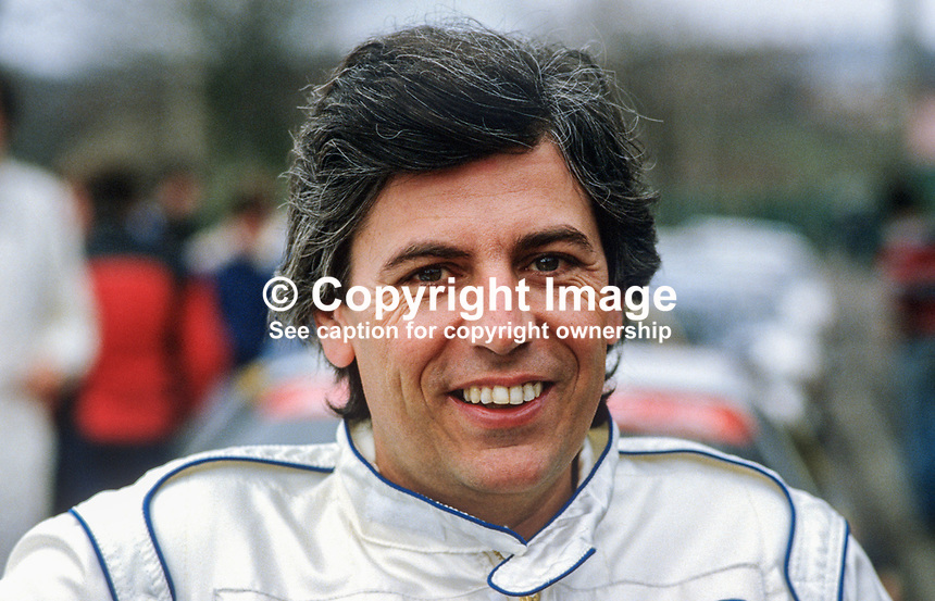 Bernard Beguin, rally driver, France, 19850404BB..Copyright Image from Victor Patterson, 54 Dorchester Park, Belfast, UK, BT9 6RJ..Tel: +44 28 9066 1296.Mob: +44 7802 353836.Voicemail +44 20 8816 7153.Skype: victorpattersonbelfast.Email: victorpatterson@mac.com.Email: victorpatterson@ireland.com (back-up)..IMPORTANT: If you wish to use this image or any other of my images please go to www.victorpatterson.com and click on the Terms & Conditions. Then contact me by email or phone with the reference number(s) of the image(s) concerned.