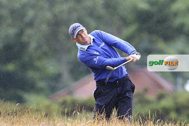 David HOWELL (ENG) plays out of the rough on the 4th hole during Sunday's Round  of the 144th Open Championship, St Andrews Old Course, St Andrews, Fife, Scotland. 19/07/2015.<br /> Picture Eoin Clarke, www.golffile.ie