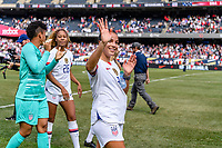 CHICAGO, IL - OCTOBER 06: Mallory Pugh #2 of the United States during a game between the USA and Korea Republic at Soldier Field, on October 06, 2019 in Chicago, IL.