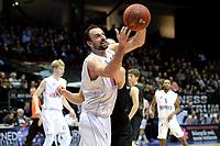 GRONINGEN - Basketbal, Donar - BSW Weert, Martiniplaza,  Dutch Basketball League, seizoen 2017-2018, 28-10-2017,  Donar speler Drago Pasalic onderschept een bal