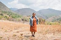 A portrait og neighbor Petra Rufina on the way to Felix Garcia´s a ranch and distillery in El Potrero, Oaxaca, Oaxaca, Mexico