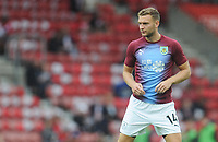 Burnley's Ben Gibson during the pre-match warm-up <br /> <br /> Photographer Kevin Barnes/CameraSport<br /> <br /> The Premier League - Southampton v Burnley - Sunday August 12th 2018 - St Mary's Stadium - Southampton<br /> <br /> World Copyright &copy; 2018 CameraSport. All rights reserved. 43 Linden Ave. Countesthorpe. Leicester. England. LE8 5PG - Tel: +44 (0) 116 277 4147 - admin@camerasport.com - www.camerasport.com