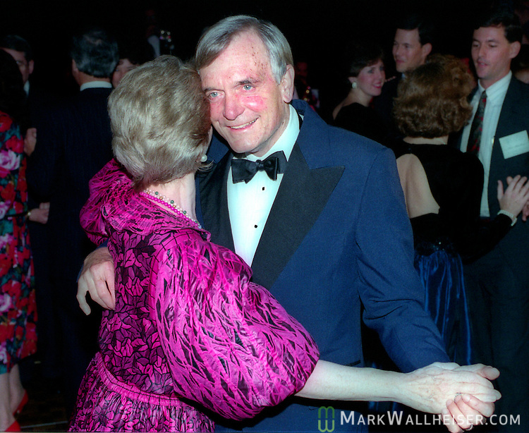 Lawton Chiles dances with wife, Rhea Chiles, during his inaugural ball after being sworn in as Florida 41st Governor on January 7, 1991 in front of the historic Florida Capitol in Tallahassee, Florida.