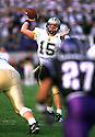 Purdue Boilermakers Drew Brees (15) during a game from his 2000 season with Purdue Boilermakers. Drew Brees would end the season finishing third in the Heisman voting.(SportPics)