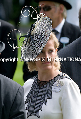 "SOPHIE, COUNTESS OF WESSEX.on the first day of Royal Ascot 2010_15/06/2010.Mandatory Photo Credit: ©Dias/Newspix International..**ALL FEES PAYABLE TO: ""NEWSPIX INTERNATIONAL""**..PHOTO CREDIT MANDATORY!!: NEWSPIX INTERNATIONAL(Failure to credit will incur a surcharge of 100% of reproduction fees)..IMMEDIATE CONFIRMATION OF USAGE REQUIRED:.Newspix International, 31 Chinnery Hill, Bishop's Stortford, ENGLAND CM23 3PS.Tel:+441279 324672  ; Fax: +441279656877.Mobile:  0777568 1153.e-mail: info@newspixinternational.co.uk"