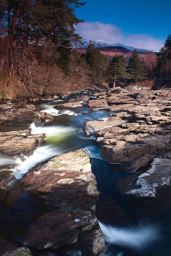 The River Dochart and the Falls of Dochart, Killin, Stirlingshire