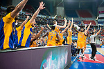 Herbalife Gran Canaria's playes Eulis Baez, Bo McCalebb, Xavi Rabaseda, Royce O'Neale and Darko Planinic  during the final of Supercopa of Liga Endesa Madrid. September 24, Spain. 2016. (ALTERPHOTOS/BorjaB.Hojas)