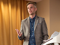 Guest speaker Michael Temple, Commercial Director at Nottinghamshire County Cricket Club
