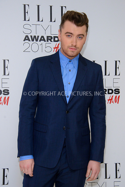 WWW.ACEPIXS.COM<br /> <br /> February 24 2015, London<br /> <br /> Sam Smith arriving at the ELLE style awards 2015 at the Walkie Talkie Tower on February 24 2015 in London<br /> <br /> By Line: Famous/ACE Pictures<br /> <br /> <br /> ACE Pictures, Inc.<br /> tel: 646 769 0430<br /> Email: info@acepixs.com<br /> www.acepixs.com