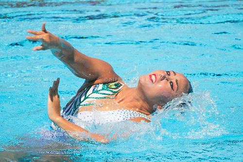 Yukiko Inui (JPN),<br /> JULY 19, 2017 - Synchronized Swimming :<br /> 17th FINA World Championships 2017 Budapest Women's Solo Free Routine Final round at City Park - Varosliget Lake in Budapest, Hungary. (Photo by Enrico Calderoni/AFLO)