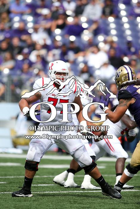 03 September 2016:  Rutgers J.J. Denman against Washington.  Washington defeated Rutgers 48-13 at the University of Washington in Seattle, WA.