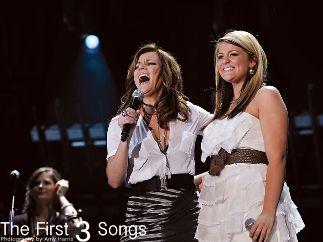 Martina McBride and Laura Alaina perform at LP Field during the 2011 CMA Music Festival on June 11, 2011 in Nashville, Tennessee.