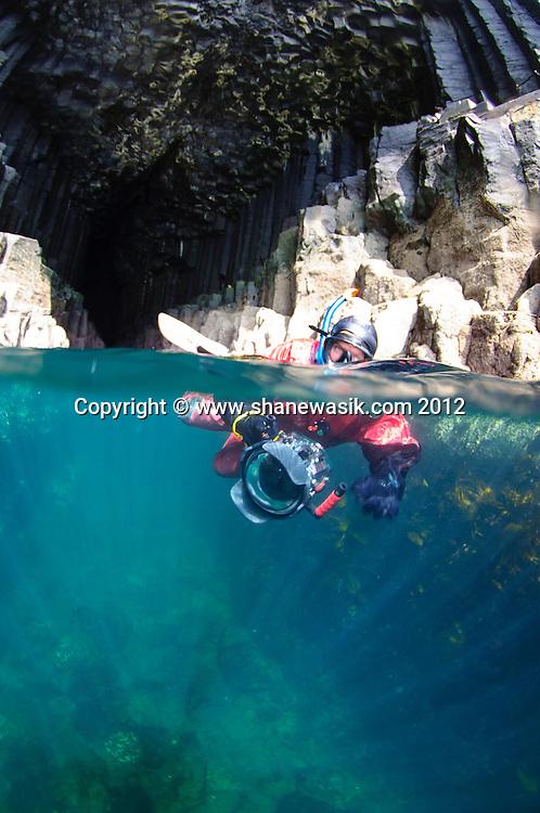 Snorkelling Fingals Cave