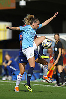 Melissa Lawley of Manchester City Women controls the ball during Chelsea Women vs Manchester City Women, FA Women's Super League FA WSL1 Football at Kingsmeadow on 9th September 2018