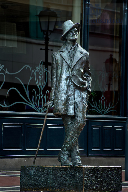 June 14, 2012; James Joyce statue, Dublin, Ireland..Photo by Matt Cashore/University of Notre Dame