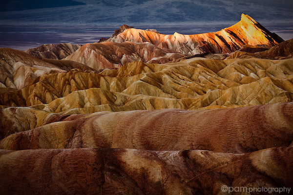 Sunrise at Zabriskie Point, Death Valley, California