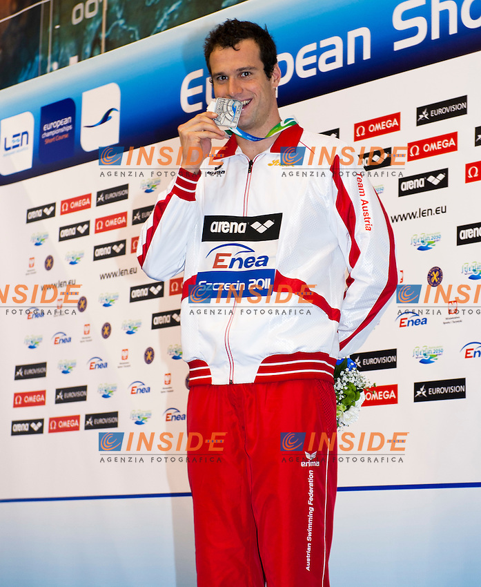 Szeszecin Stettino POL  - 8-11 Dec 2011.European Swimming  Short Course Championships.Swimming Nuoto finals finali ..ROGAN Markus AUT.200 Individual Medley M.silver medal.Photo Insidefoto / Giorgio Scala..