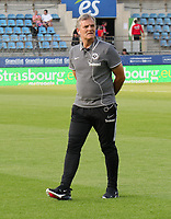 """Torwarttrainer Manfred """"Moppes"""" Petz (Eintracht Frankfurt) - 22.08.2019: Racing Straßburg vs. Eintracht Frankfurt, UEFA Europa League, Qualifikation, Commerzbank Arena<br /> DISCLAIMER: DFL regulations prohibit any use of photographs as image sequences and/or quasi-video."""