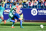 "Atletico de Madrid Mª Pilar ""Mapi"" Leon and FC Barcelona Jennifer Hermoso during match of La Liga Femenina between Atletico de Madrid and FC Barcelona at Vicente Calderon Stadium in Madrid, Spain. December 11, 2016. (ALTERPHOTOS/BorjaB.Hojas)"