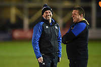 Allan Ryan and Toby Booth of Bath Rugby. Premiership Rugby Cup match, between Bath Rugby and Gloucester Rugby on February 3, 2019 at the Recreation Ground in Bath, England. Photo by: Patrick Khachfe / Onside Images