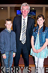 Anthony Rigney and Cliona Costello with the principle of Killahan National School Gerard Doyle after their confirmation in St Bernards Church, Abbeydorney on Tuesday.......................