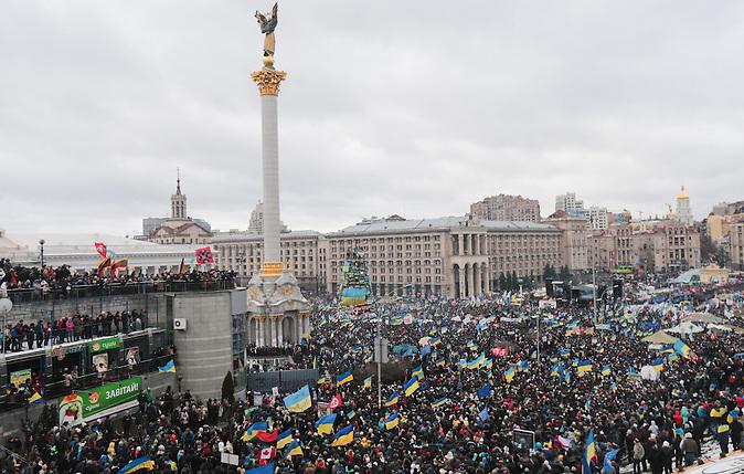 Demonstrationen am 08.12.2013 in Kiew. Marsch der Millionen. Pro EU.  Konstantin Chernichkin / demonstrations in Kiev 08.12.2013