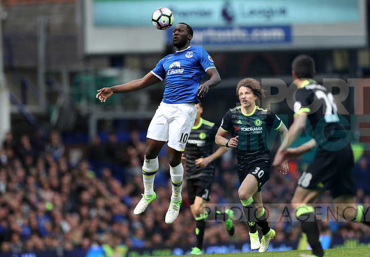 Romelu Lukaku of Everton during the English Premier League match at Goodison Park , Liverpool. Picture date: April 30th, 2017. Photo credit should read: Lynne Cameron/Sportimage