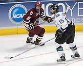 Brett Motherwell, Travis Zajac - The Boston College Eagles defeated the University of North Dakota Fighting Sioux 6-5 on Thursday, April 6, 2006, in the 2006 Frozen Four afternoon Semi-Final at the Bradley Center in Milwaukee, Wisconsin.