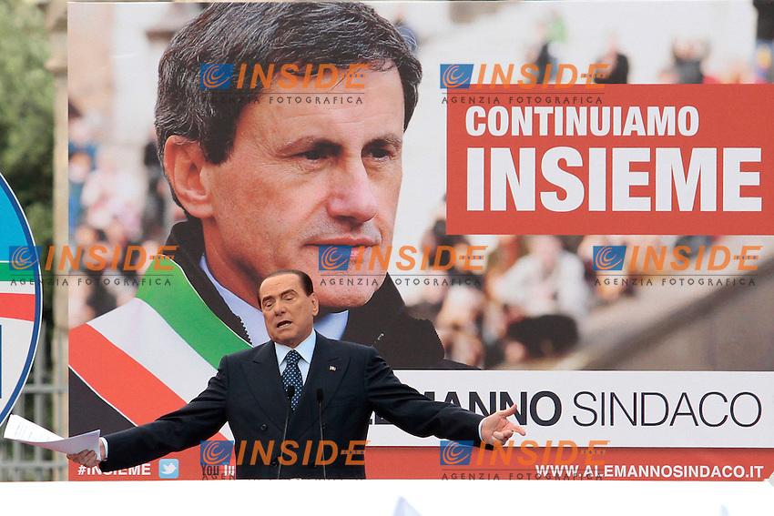 Silvio Berlusconi.Roma 24/05/2013 Colosseo. Chiusura della campagna elettorale del sindaco di Roma del PDL..Photo Samantha Zucchi Insidefoto