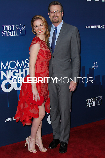 "HOLLYWOOD, LOS ANGELES, CA, USA - APRIL 29: Sarah Drew, Peter Lanfer at the Los Angeles Premiere Of TriStar Pictures' ""Mom's Night Out"" held at the TCL Chinese Theatre IMAX on April 29, 2014 in Hollywood, Los Angeles, California, United States. (Photo by Xavier Collin/Celebrity Monitor)"