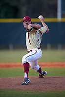 Boston College Eagles relief pitcher Donovan Casey (30) delivers a pitch during a game against the Central Michigan Chippewas on March 8, 2016 at North Charlotte Regional Park in Port Charlotte, Florida.  Boston College defeated Central Michigan 9-3.  (Mike Janes/Four Seam Images)